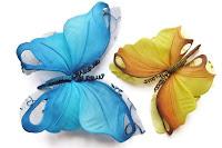 hand painted butterflies, butterfly decor, butterfly hair clip, butterfly brooch, wedding butterflies