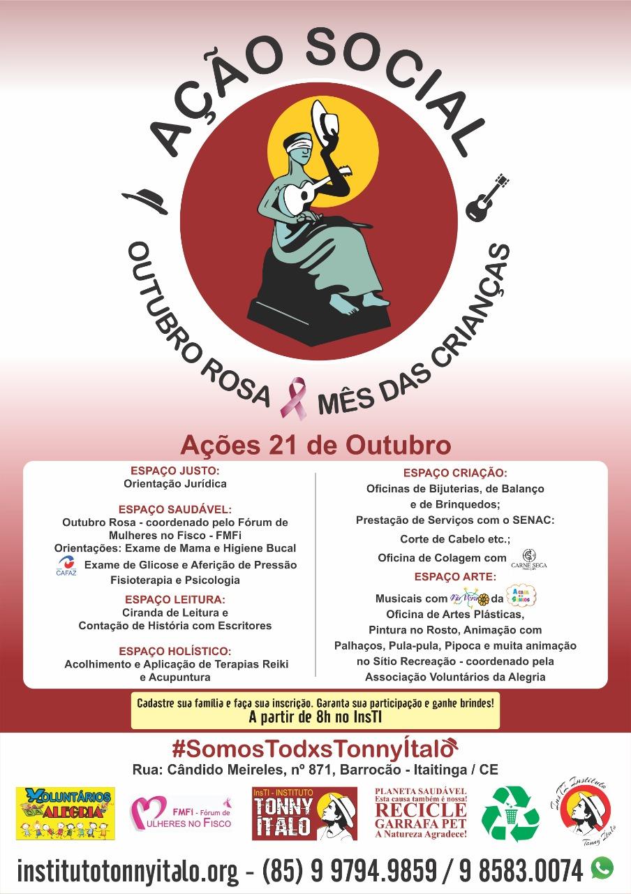 Outubro Rosa e Mês da Criança - Ação Social no InsTI/2018