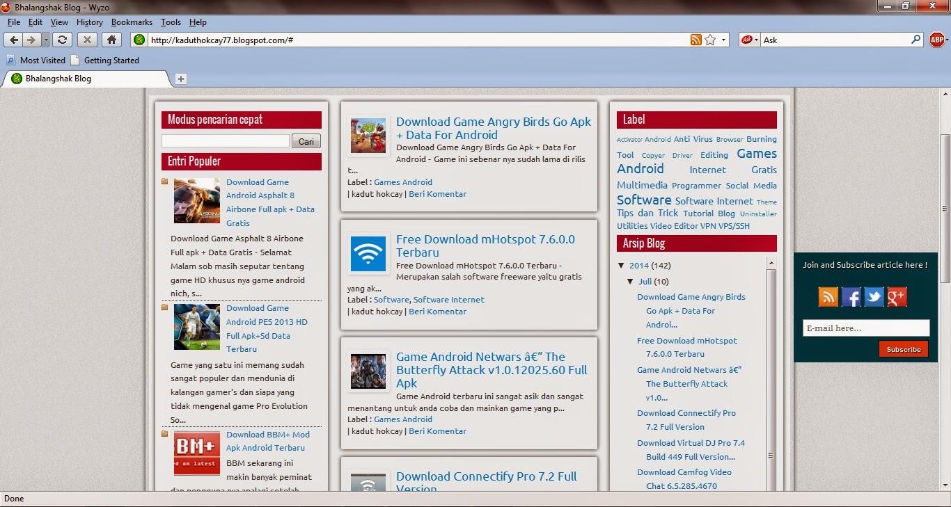 Free Download Browser Wyzo 3.6.4 Final Terbaru