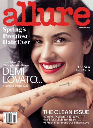 Demi Lovato Allure magazine February 2016 cover