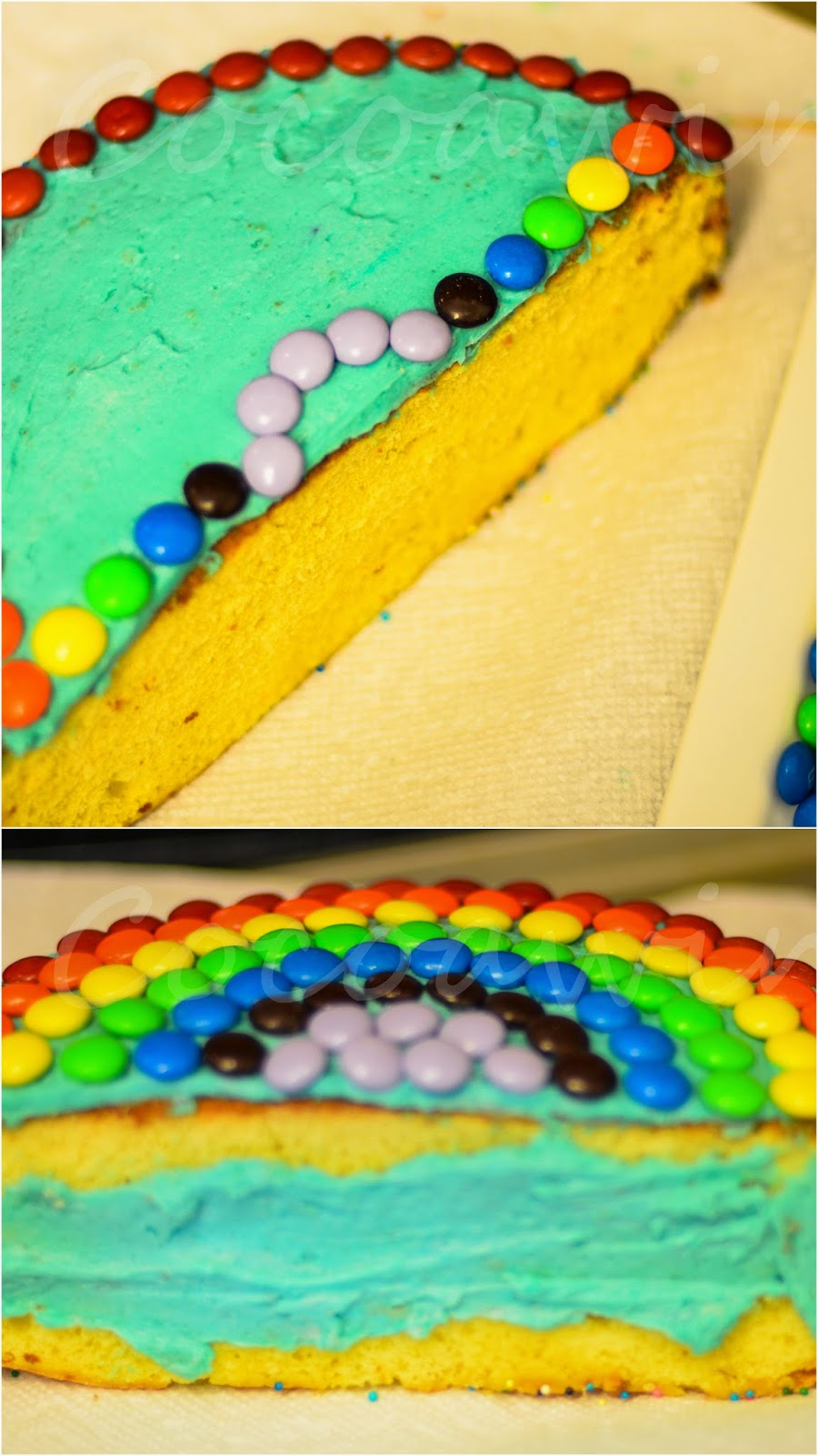 Easy Peasy Rainbow Half Cake