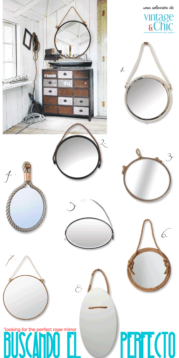 Espejos con cuerda ideas shopping diy rope mirrors for Espejos redondos para decorar