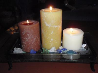 Candlelight Seashell Centerpiece
