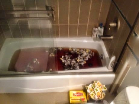 A bathtub full of lipton