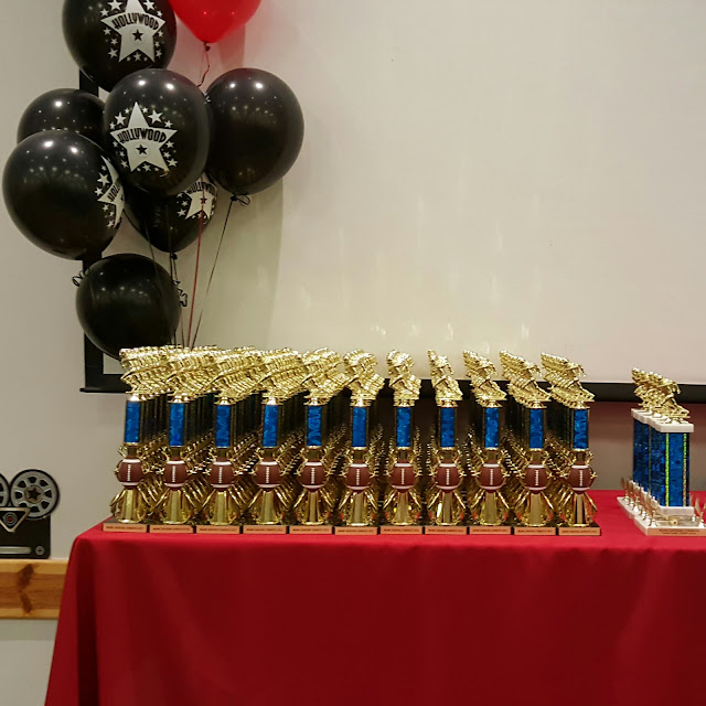 trophy table, Hollywood theme, eventsojufith