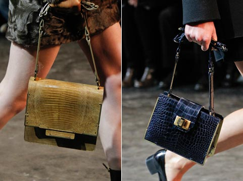 Fashion handbags of fall to winter 2011/2012: animal subjects