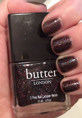 butter LONDON, OPI, Deborah Lippmann, butter LONDON The Black Knight, Deborah Lippmann On The Beach, OPI What Wizardry Is This, OPI Oz The Great And Powerful, nails, nail polish, nail lacquer, nail varnish, swatches, manicure