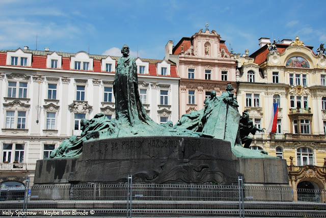 Jan Hus Memorial, Old Town Square, Prague