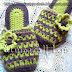 home crochet slipper       طريقة عمل شبشب كروشية