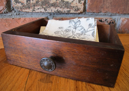 vintage wooden drawer napkin holder