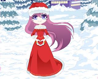 Juego de vestir a la muñeca del corazón en navidad