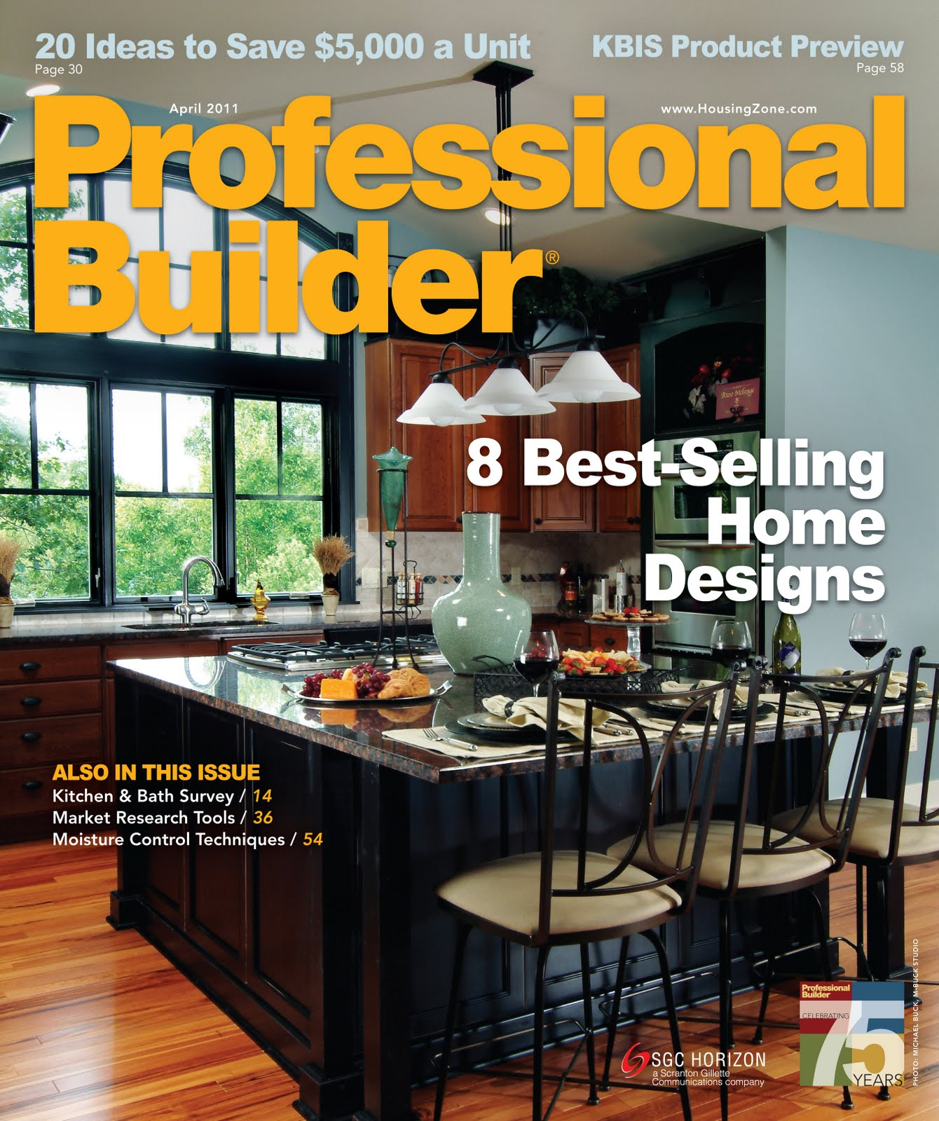 Professional Builder Magazine Cover Visbeen Architects - Featured designer visbeen associates