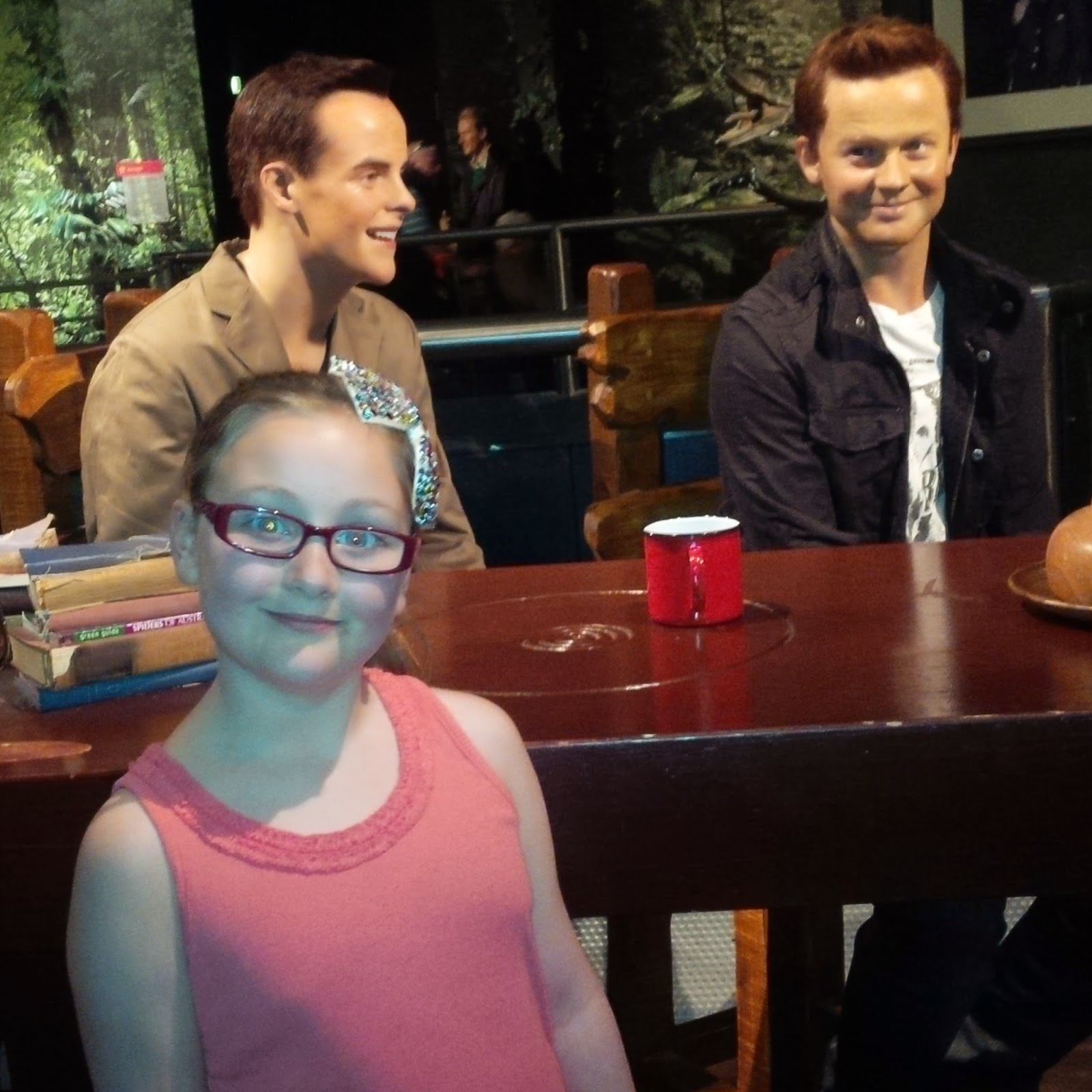olivia meeting ant and dec waxworks