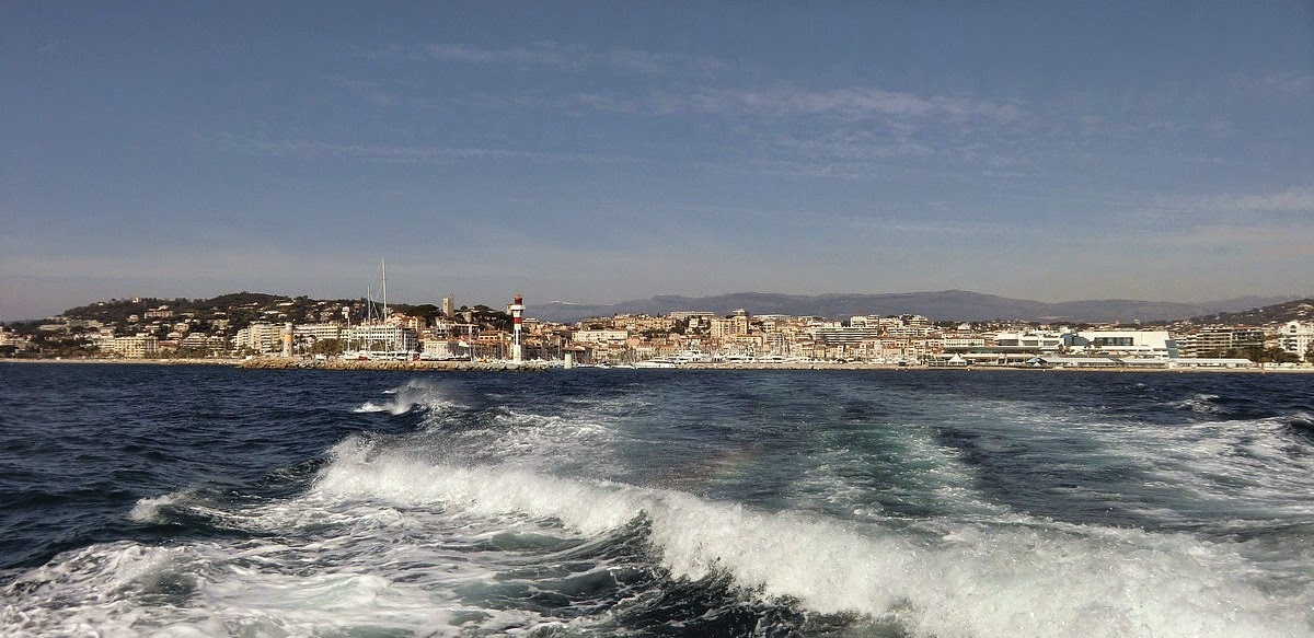 Leaving Cannes to Ste-Marguerite