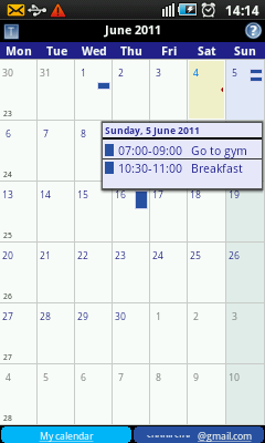 Android Calendar - Event Info
