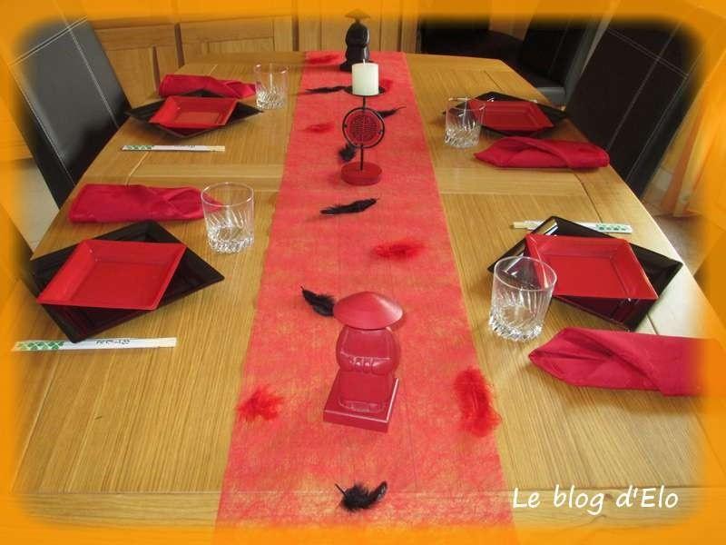 Le blog d 39 elo d co de table japon en noir et rouge for Deco table rouge et noir