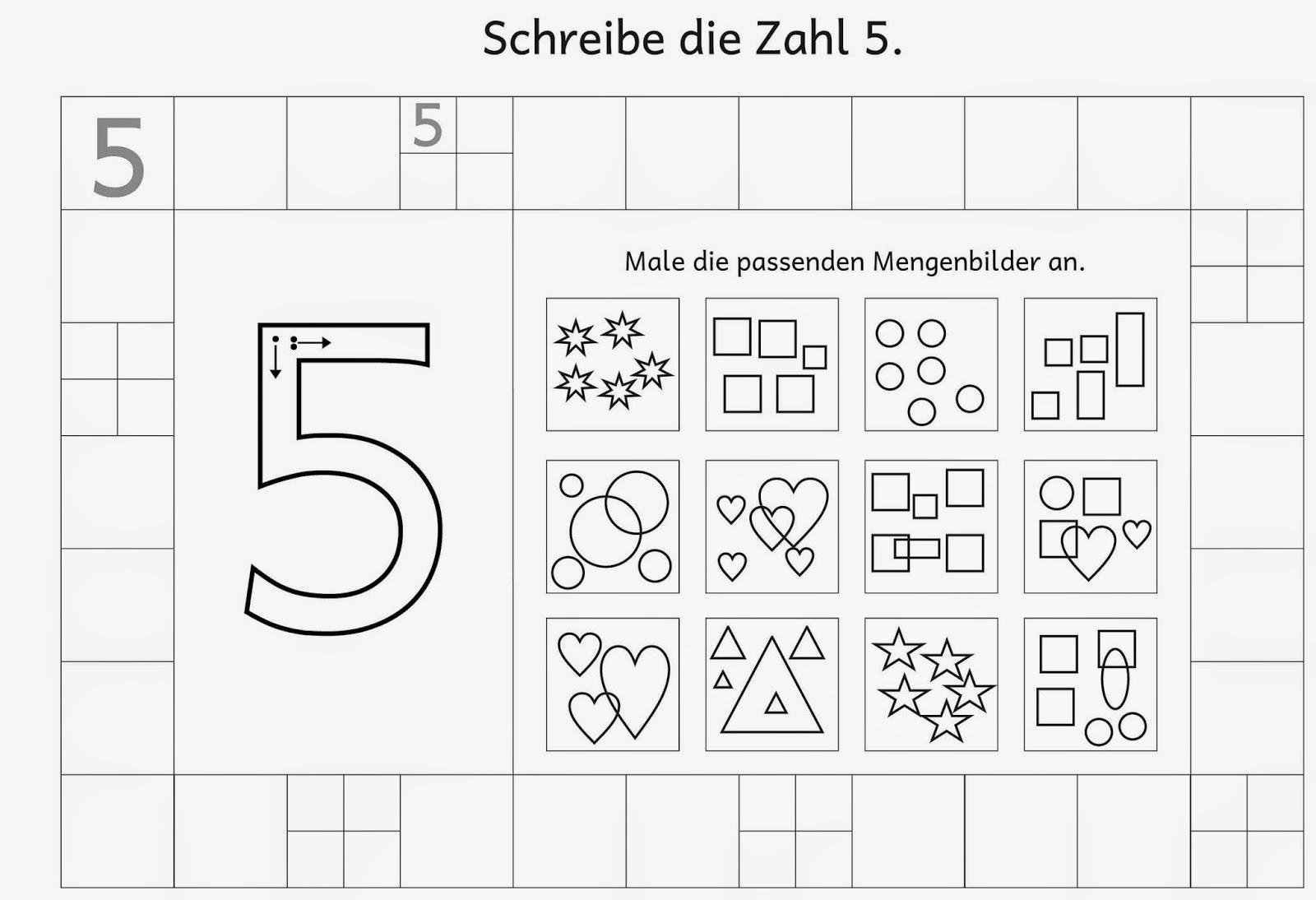 Lernstübchen: Ziffernschreibkurs Arbeitsblätter (8)