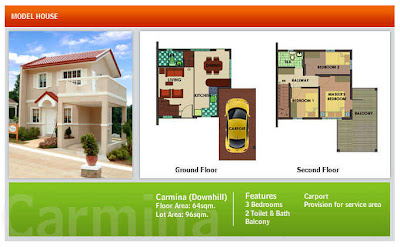 Carmina House Model - Azienda Genova Talisay Cebu House and Lot For Sale