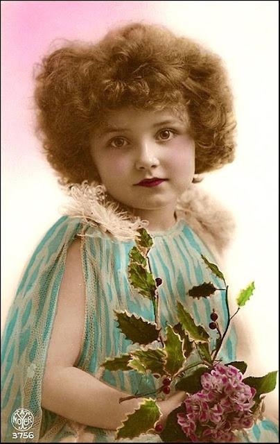 foto de niña vintage