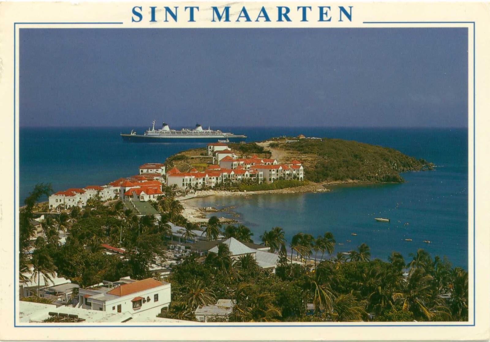 Holandija Sint+maartin+postcard+netherland+antilles+cruise+ship
