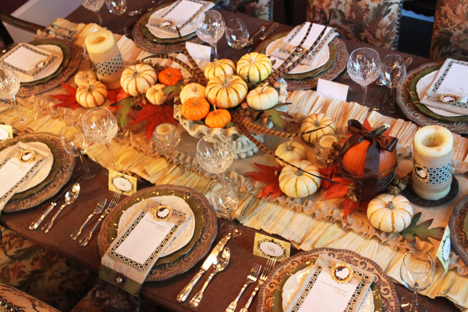ideas  Thanksgiving table Ideas Decorate: Decorating Table runner Anyone homemade Can