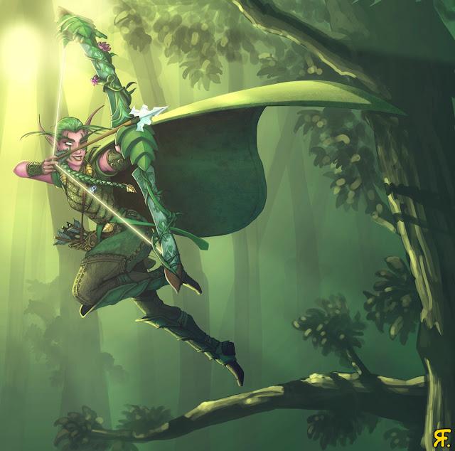 More Night Elf hunter - Finish por xadhoom