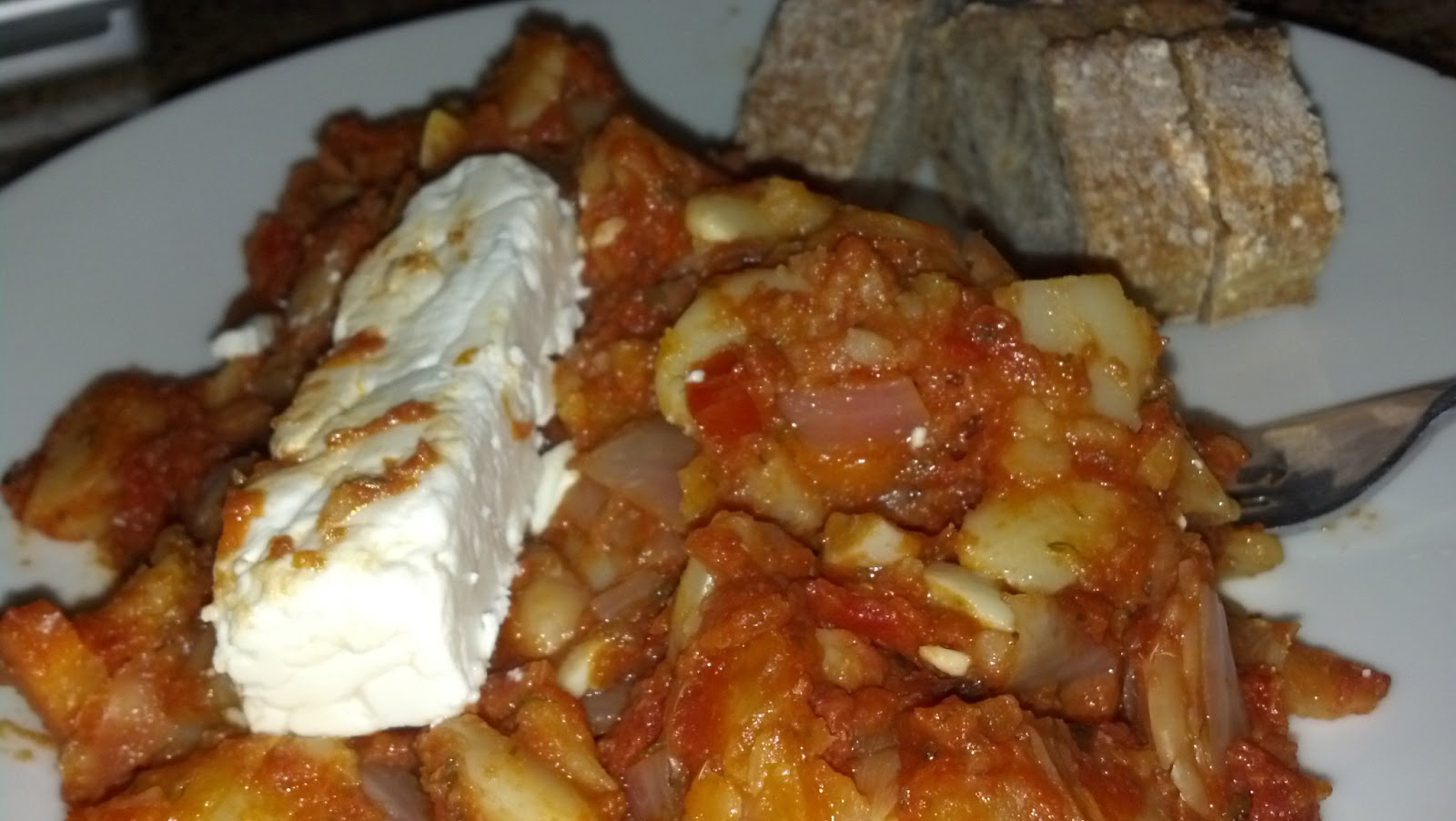Oven Baked Beans With Feta