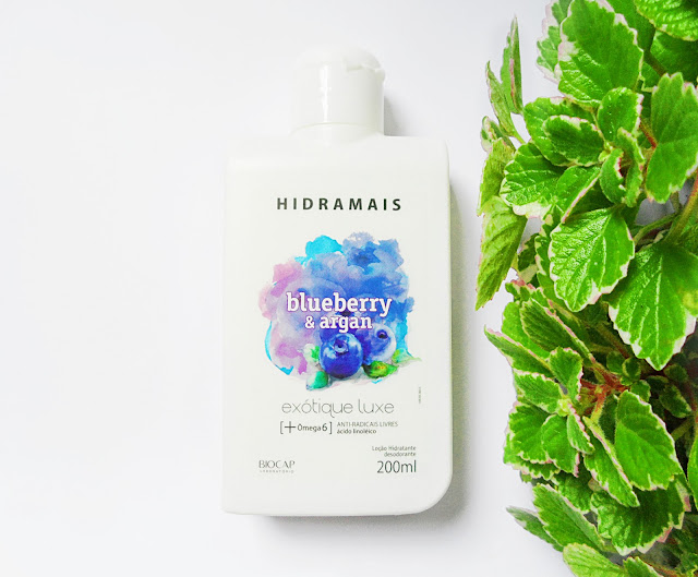 natural skin care body lotion cream Hidramais Blueberry and Argan cosmetics blogger review