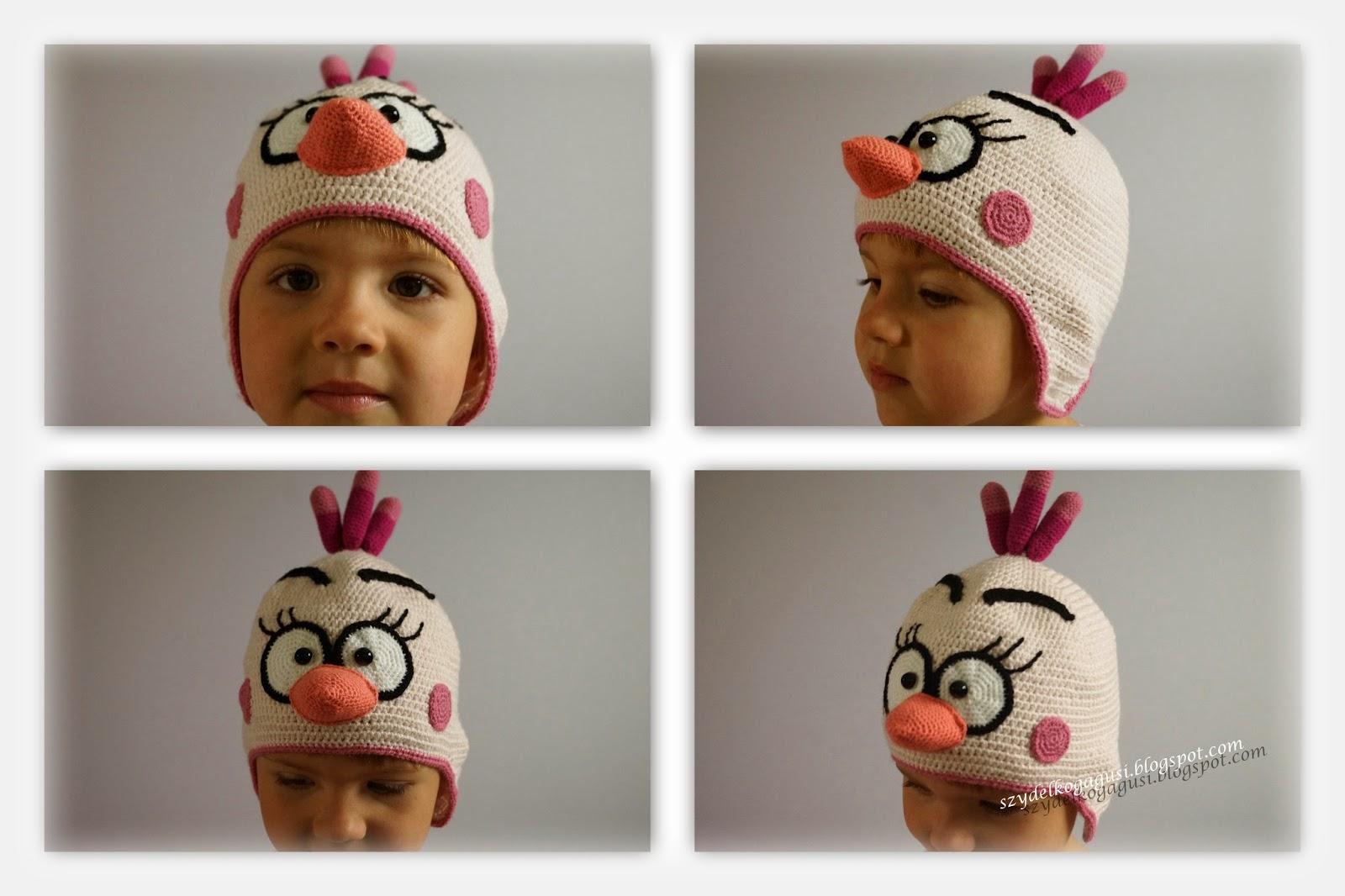 czapka angry birds na szydełku