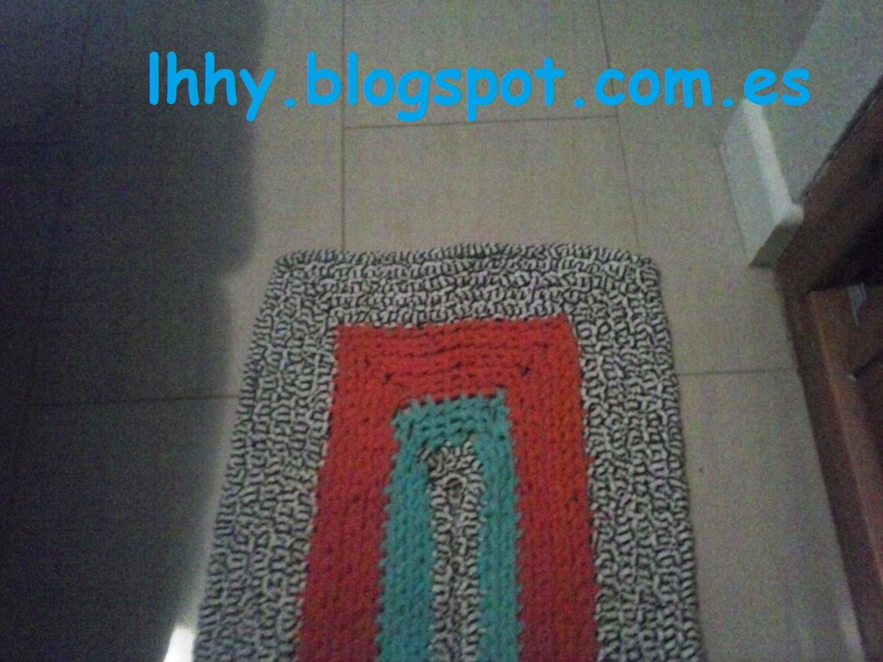 Quebonitasmislabores ganchillo xxl alfombra de trapillo - Alfombras ganchillo trapillo ...