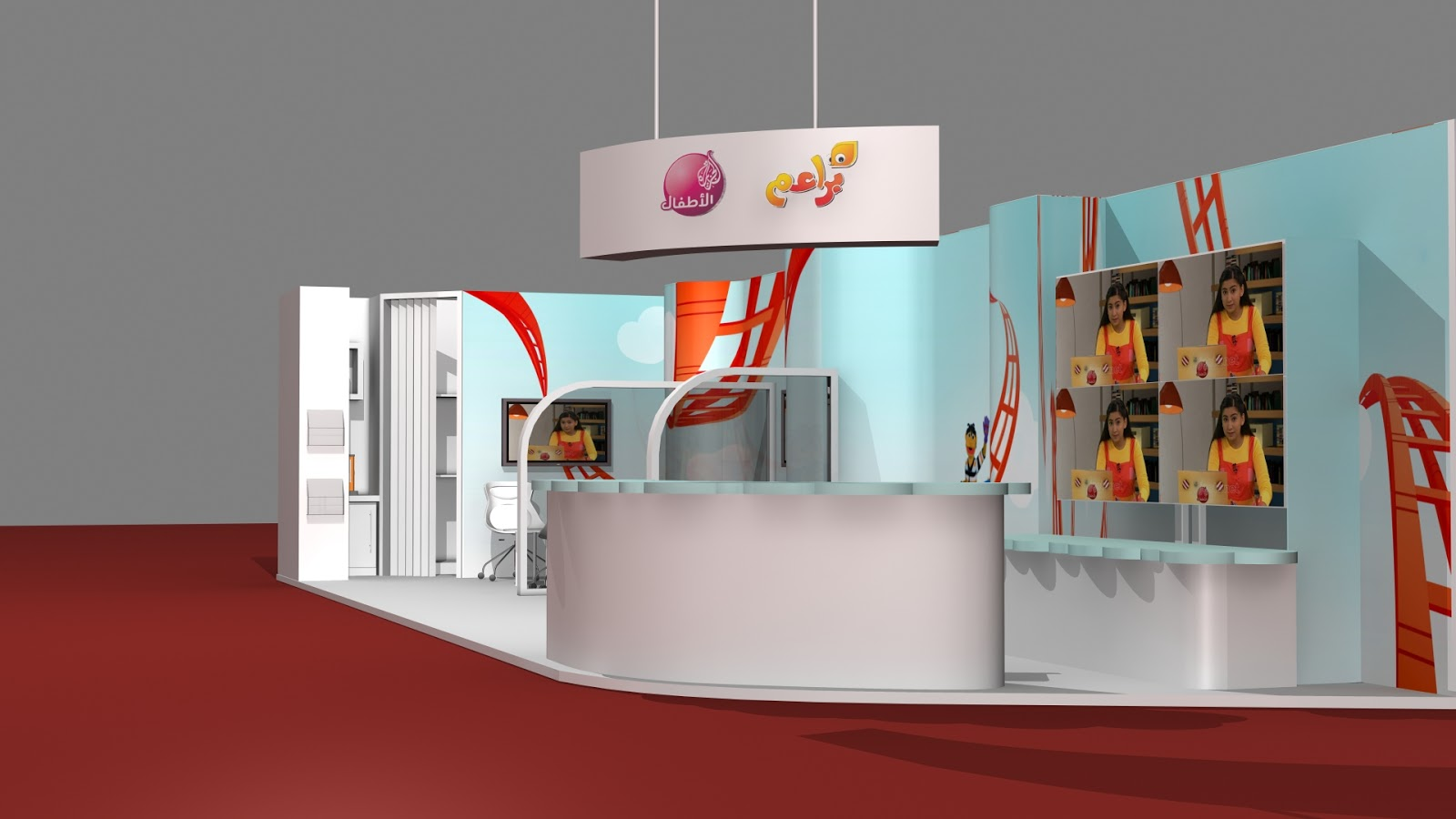 3d Exhibition Booth : Sajid designer d exhibition booth model