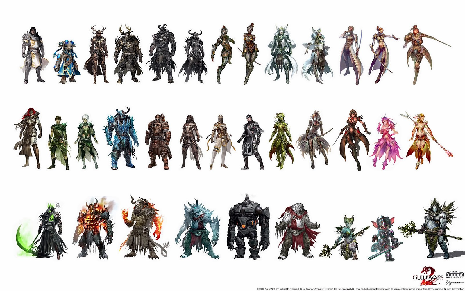 Guild Wars 2 Anime Characters : Online games guild wars introduction the game