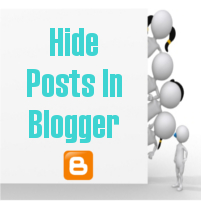 Hide Posts In Blogger