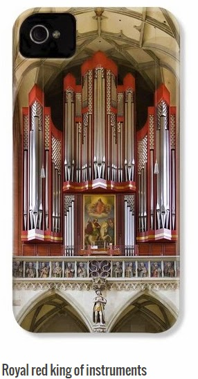 pipe organ picture on iphone case