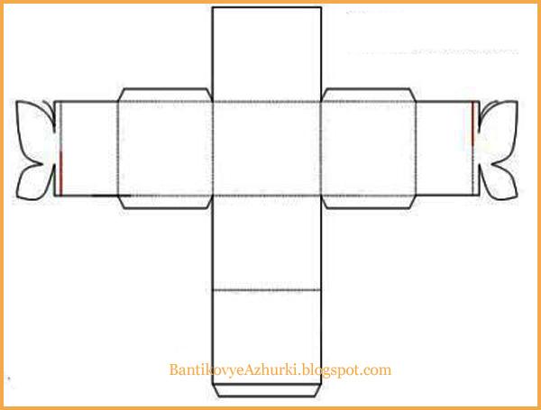 Упаковка для подарка - коробочка с бабочкой схема шаблон