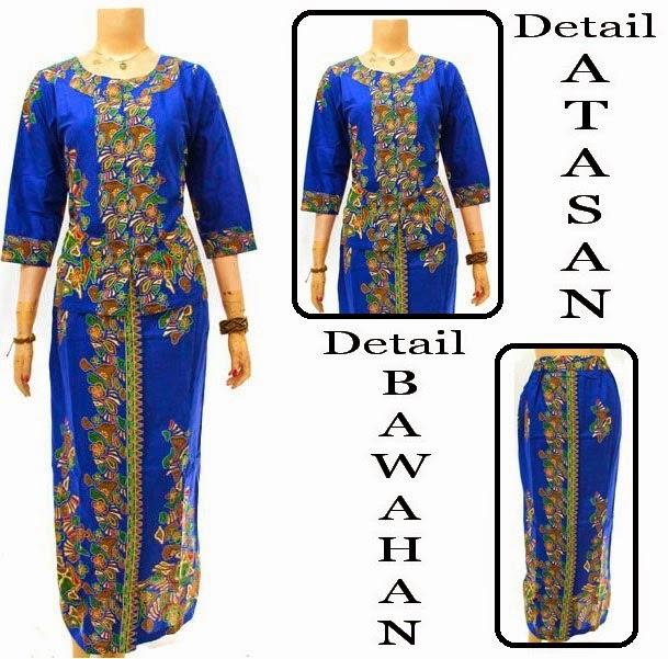 Baju Batik Dress Muslim motif pola