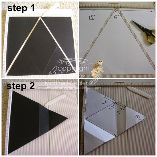 Triangle star card step by step 1-2