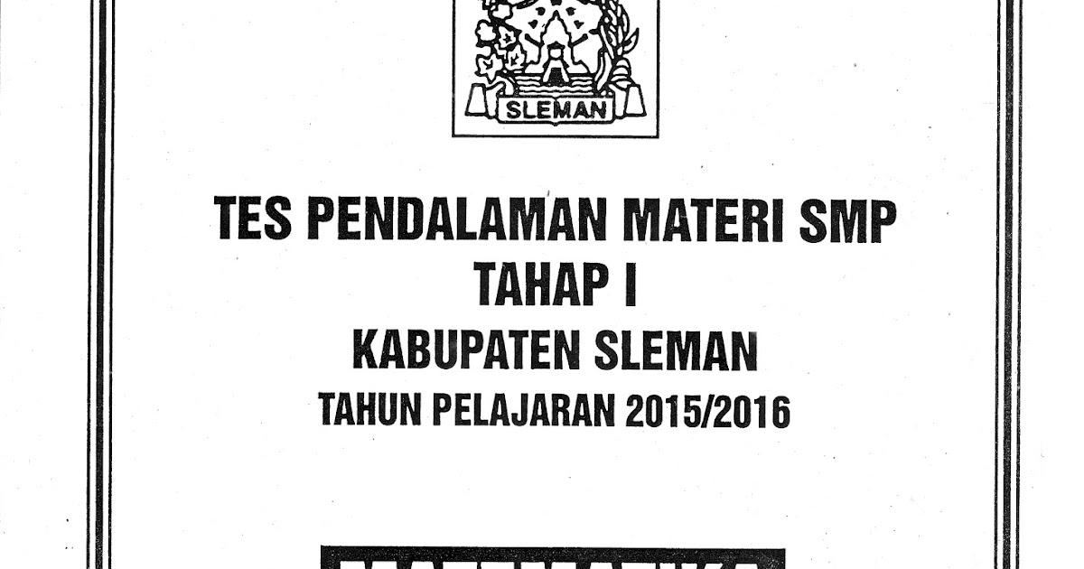 Soal Tpm Smp Kabupaten Sleman Tahap 1 2015 2016 16 17 November 2015 Giri Widodo