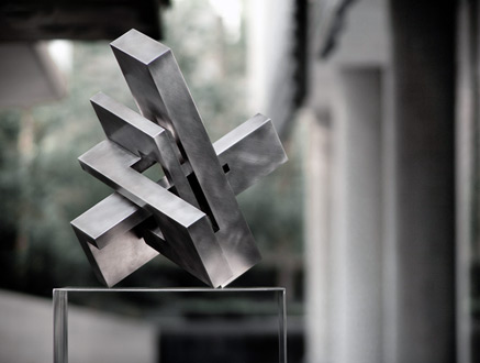 intersecting planes sculpture. arturo uses stainless and rusted weathered steel that has a wonderful buttery patina changes with the light of day. i\u0027m partial to these masculine intersecting planes sculpture