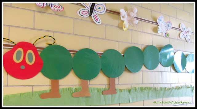 photo of: Caterpillar Crawls on School Wall in Study of Eric Carle (via RainbowsWithinReach)