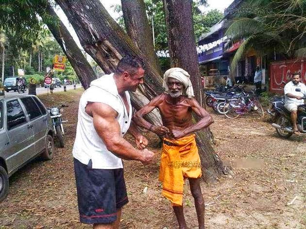 incredible india: Funny Body Builder