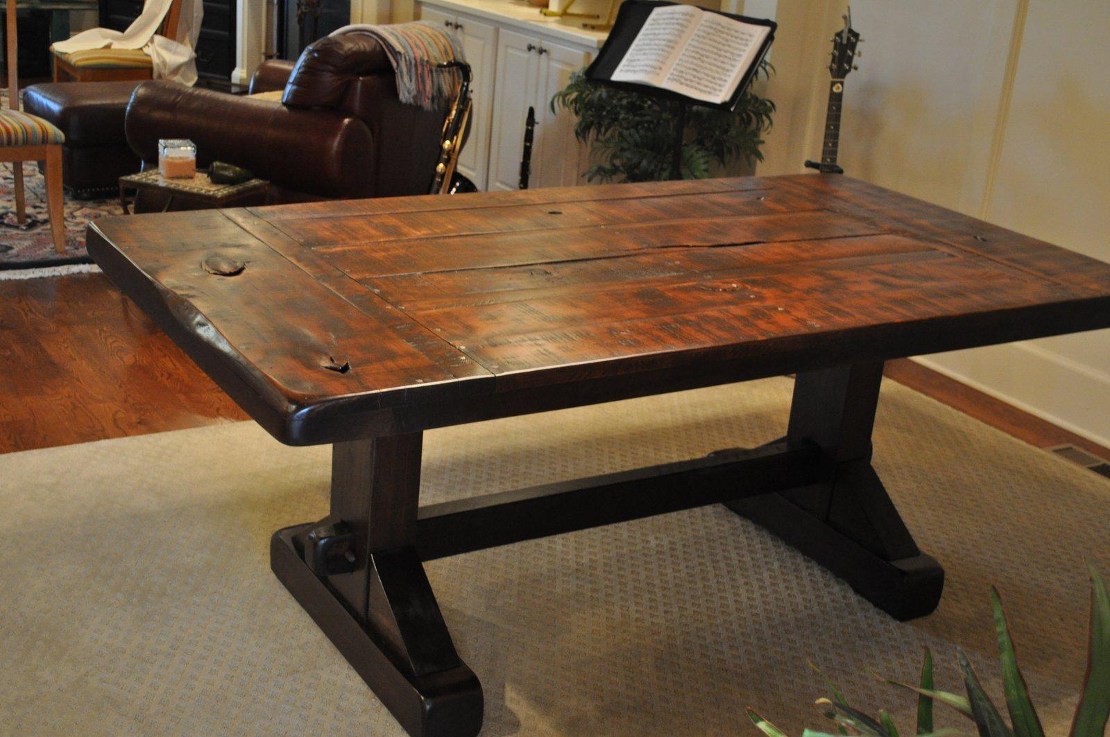 The Emerson Rustic Trestle Dining Table | Atlanta Georgia | Rustic Trades  Furniture