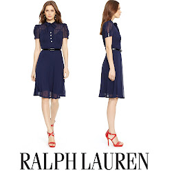 Crown Princess Victoria Style  - RALPH LAUREN Dress  RALPH LAUREN Pumps