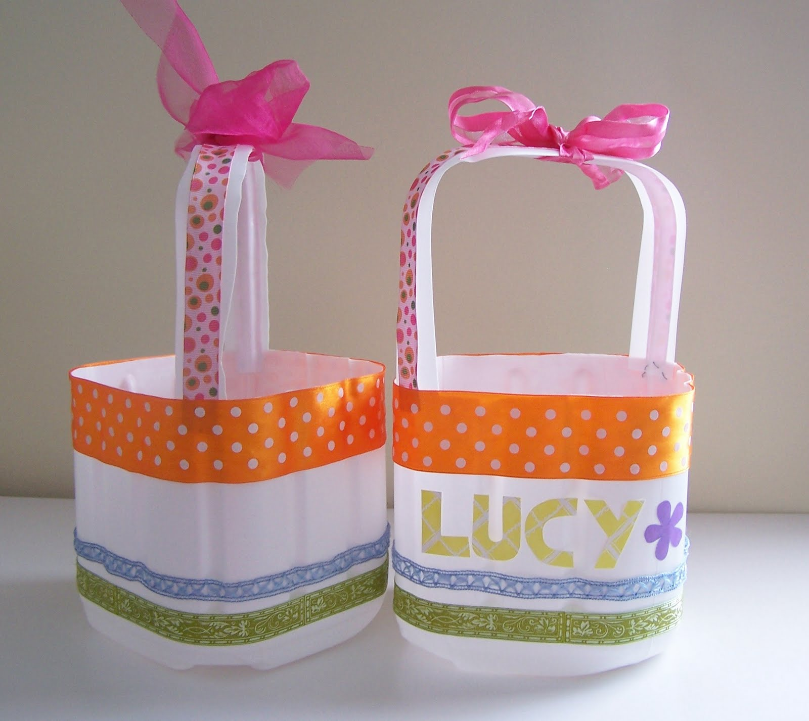Recycled milk jug easter baskets tutorial - Easter basket craft ideas ...