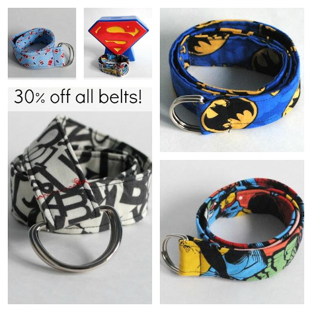 Fabric D-ring Belt Sale