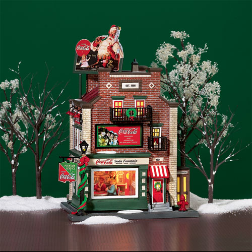 dept 56 christmas in the city coca cola soda fountain