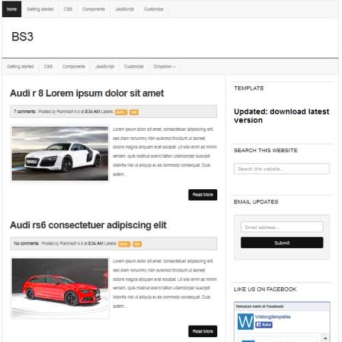 Template Blog Bs3 – Seo Friendly Dan Responsive Design