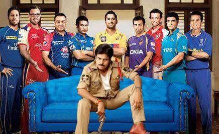 Gabbar Singh Vs IPL 5 : Image caught in Facebook
