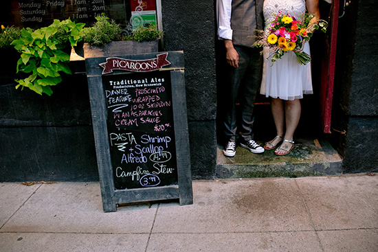 pub wedding reception