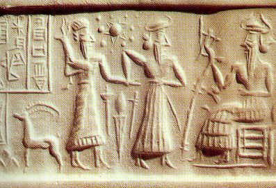 sumerios en piedra